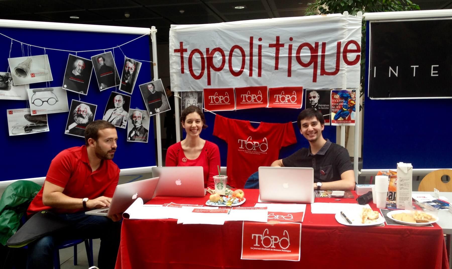 Stand Topo lors de la journée du journalisme de l'Unige